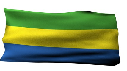 Gabon flag BG