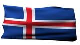 Iceland Flag bg poster