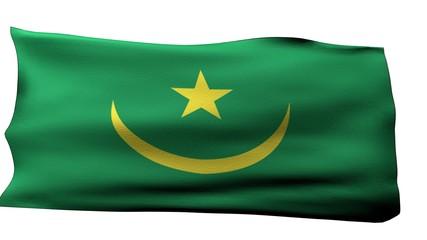 Mauritania Flag bg
