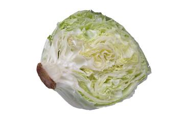 Salatkopf aufgeschnitten halbprofil isoliert
