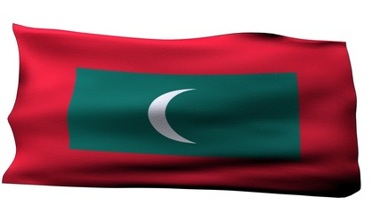 Maldives Flag bg