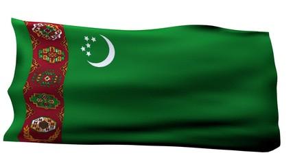 Turkmenistan Flag bg