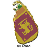 Sri Lanka metal pin badge poster