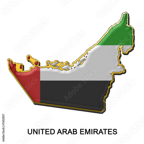 United Arab Emirates metal pin badge