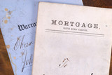 Vintage Mortgage and Warranty Deed poster