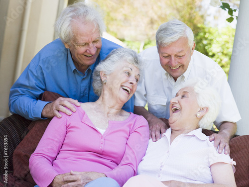 Group of senior friends laughing