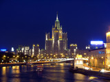 Quay Moscow river poster