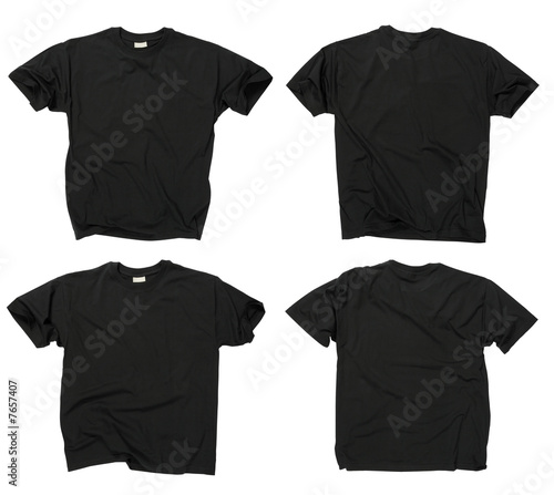 blank shirt template black. Blank black t-shirts front and