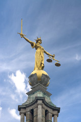 justice and blue skies