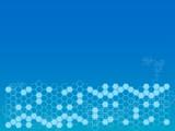 Blue hexagon background poster