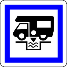 A0193 - informacja Panneau VIDANGE CAMPING CAR