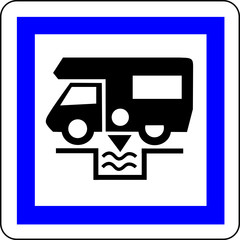 a0193 - Panneau information VIDANGE CAMPING CAR
