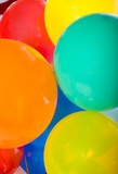 Party Balloons on white poster