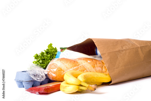 Bag of Groceries on WHite - 7666027