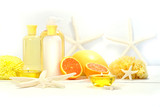 Orange spa products poster