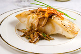 Sea bass with shiitake mushrooms