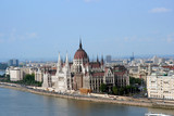 Budapest view of Parliament from across the Danube poster