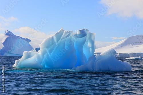 Aluminium Antarctica Träume aus Eis und Azurblau