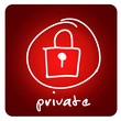 web button - private