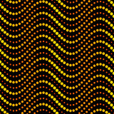 Seamless circle waves pattern - bright disco night colors