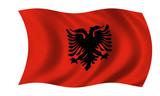 albanien fahne albania flag poster