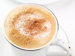 Cappuccino coffee macro