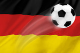 Football with country flag Germany