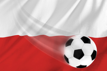 soccer ball and polish flag