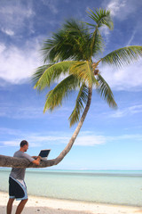 Computer work under the palm