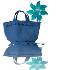 sac de plage bleu