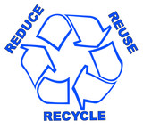 recycle symbol with words reduce reuse recycle poster