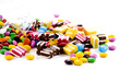Colorful chocolate candies.............