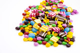 Fototapety Colorful chocolate candies..............