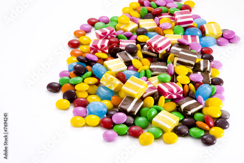 Colorful chocolate candies..............