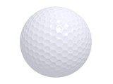Perfect White Golf Ball