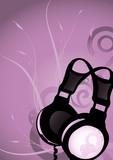 Abstract earphones 3 poster