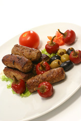 kabob rolls with olives pepper