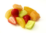 Healthy exotic fruit salad