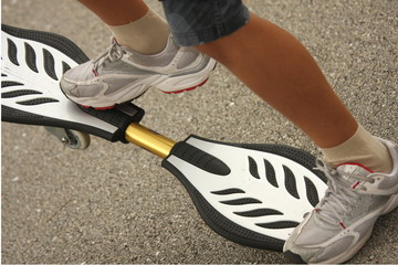 A skateboarder ready to ride