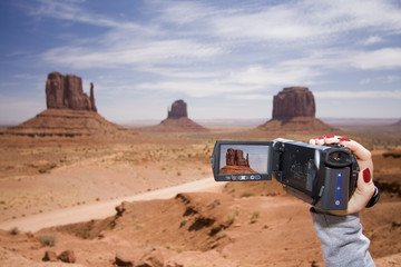 Woman with camcorder, Monument Valley, Arizona