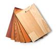 Sample pack of wooden flooring laminate