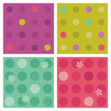 Polka-dot repeat patterns (seamless backgrounds) poster