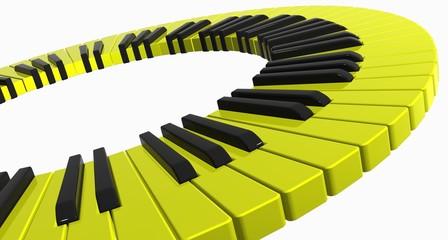 yellow piano ring