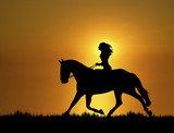 Sunset Horse Ride 1 poster