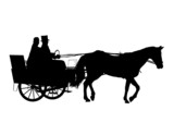 Horse and Carriage Wedding 1 poster