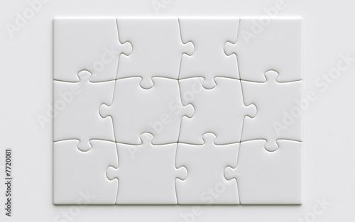 Leinwandbild Motiv blank puzzle pieces