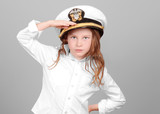 Young Girl Saluting in Uniform poster