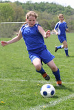 Youth Teen Soccer Player in Action 16