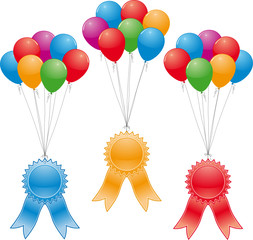 award ribbons and balloons