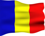 3D Flag of Romania poster